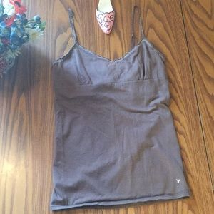 American eagle outfitters L brown cami women's